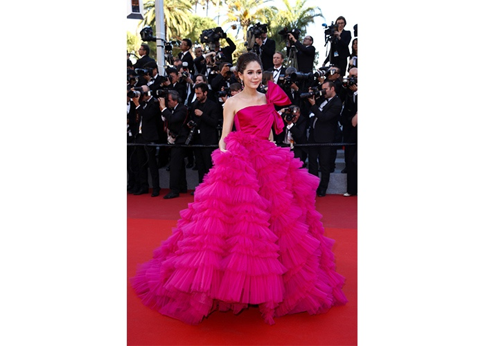 Fashion, Featured, Online Exclusive, Red Carpet, Style, Araya A Hargate In Zuhair Murad Couture at the Cannes Film Festival