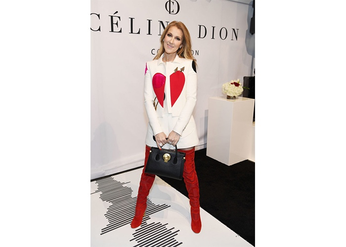 Fashion, Featured, Online Exclusive, Red Carpet, Style, Celine Dion in Schiaparelli at the Celine Dion Accessories Collection Launch