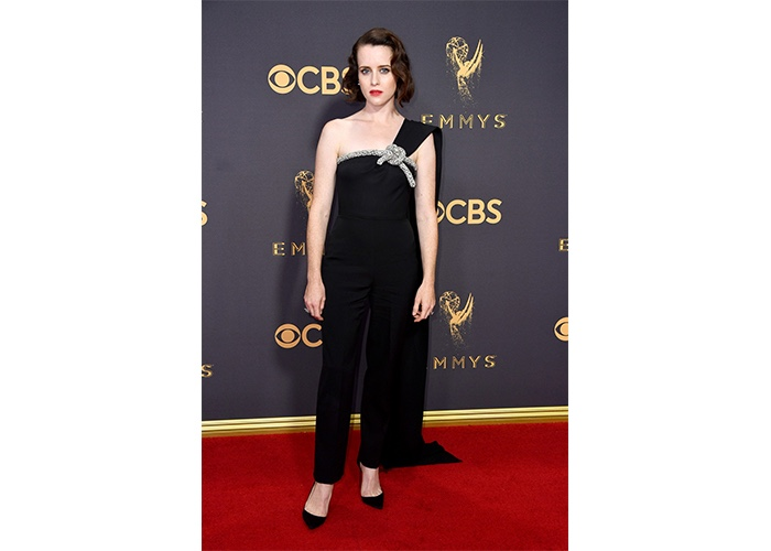 Fashion, Featured, Online Exclusive, Red Carpet, Style, Claire Foy in Oscar de la Renta at the Emmy Awards