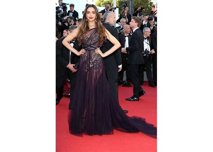 Fashion, Featured, Online Exclusive, Red Carpet, Style, Deepika Padukone in Marchesa at the Cannes Film Festival