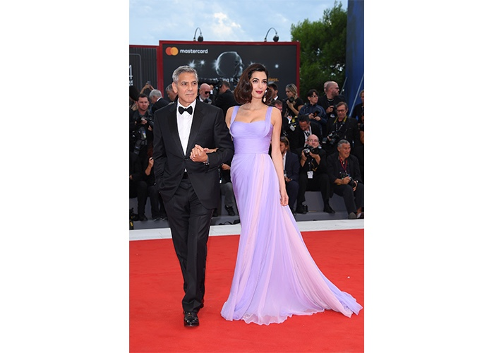 Fashion, Featured, Online Exclusive, Red Carpet, Style, George Clooney and Amal Clooney in Versace at the Cannes Film Festival