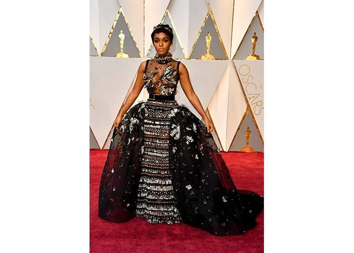 Fashion, Featured, Online Exclusive, Red Carpet, Style, Janelle Monáe in Elie Saab Couture at the Academy Awards