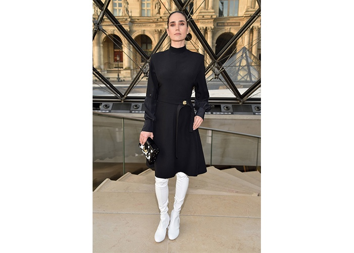 Fashion, Featured, Online Exclusive, Red Carpet, Style, Jennifer Connelly in Louis Vuitton at the Louis Vuitton Fall Fashion Show