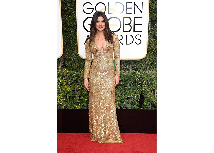 Fashion, Featured, Online Exclusive, Red Carpet, Style, Priyanka Chopra in Ralph Lauren at the Golden Globe Awards