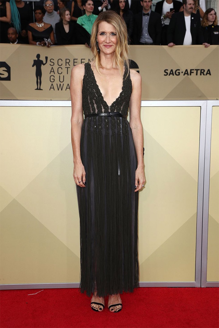Laura Dern, Christian Dior Couture, 2018, 24th Annual Screen Actors Guild Awards, Fashion, Featured, Online Exclusive, Red Carpet, SAG Awards, Screen Actors Guild Awards, Style