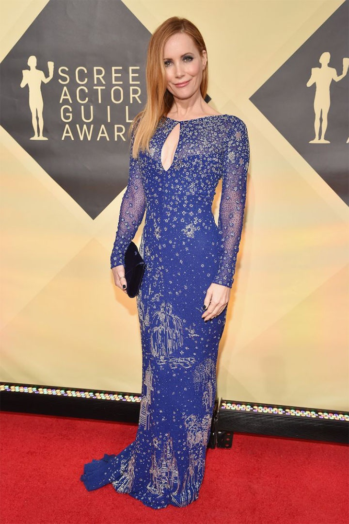 Leslie Mann, Zuhair Murad, 2018, 24th Annual Screen Actors Guild Awards, Fashion, Featured, Online Exclusive, Red Carpet, SAG Awards, Screen Actors Guild Awards, Style