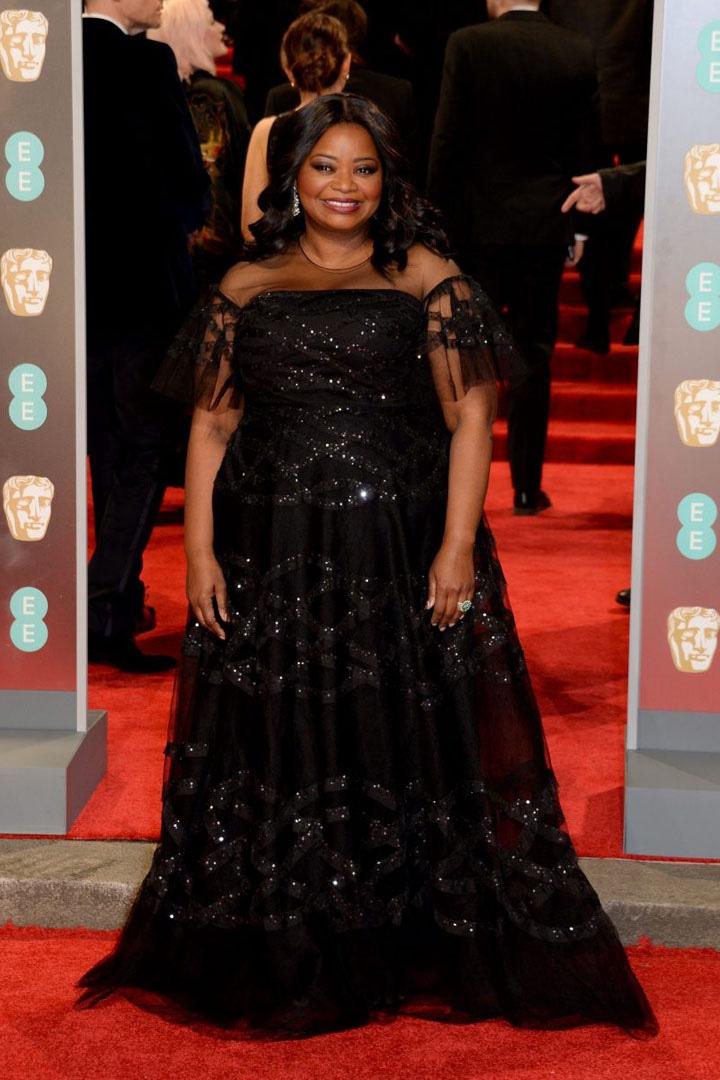 Octavia Spencer, Sachin & Babi, Awards Show, BAFTA, BAFTAs 2018, Black, British Academy Film Awards, Cinema, Entertainment, Fashion, Featured, Film, Hollywood, Movies, Online Exclusive, Style, Time's Up