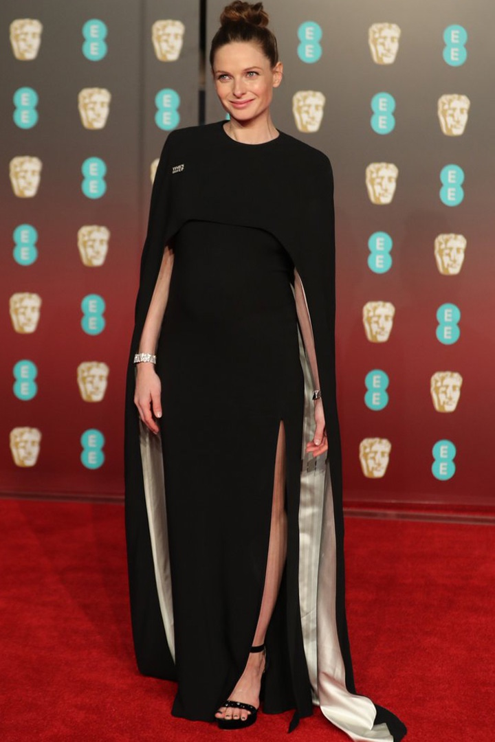 Rebecca Ferguson, Stella McCartney, Awards Show, BAFTA, BAFTAs 2018, Black, British Academy Film Awards, Cinema, Entertainment, Fashion, Featured, Film, Hollywood, Movies, Online Exclusive, Style, Time's Up