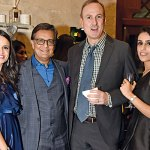 Shefali and Shishir Mehta, Chandler Burr and Ayesha Mehta