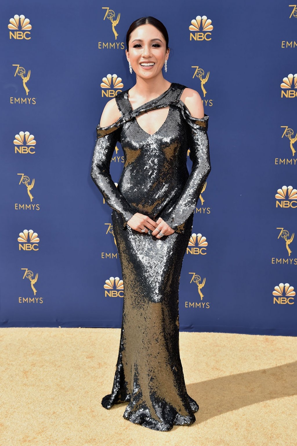 Constance Wu in Jason Wu, 70th Annual Primetime Emmy Awards, Betty White, Emmys 2018, Fashion, Featured, Glenn Weiss, Hannah Gadsby, highlights, Jav Svendsen, Online Exclusive, Style, The Marvellous Mrs. Maisel, top moments, We solved it, Diversity