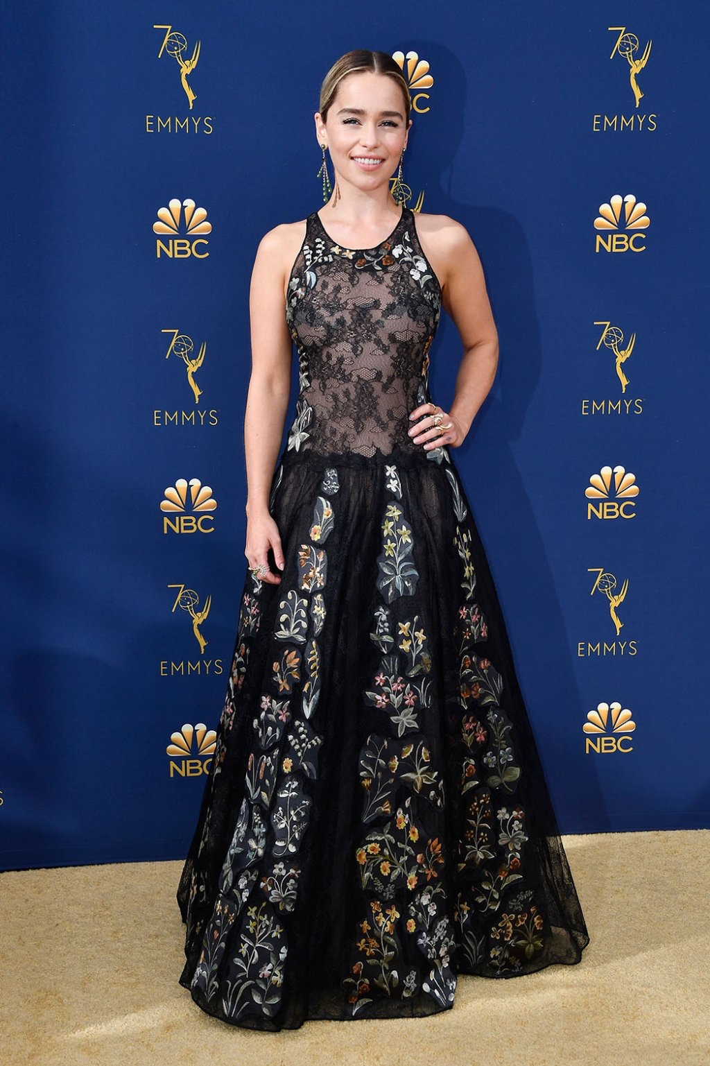 Emilia Clarke in Christian Dior Haute Couture, 70th Annual Primetime Emmy Awards, Betty White, Emmys 2018, Fashion, Featured, Glenn Weiss, Hannah Gadsby, highlights, Jav Svendsen, Online Exclusive, Style, The Marvellous Mrs. Maisel, top moments, We solved it, Diversity