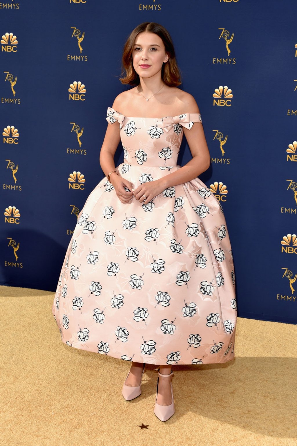 Millie Bobby Brown in Calvin Klein by Appointment, 70th Annual Primetime Emmy Awards, Betty White, Emmys 2018, Fashion, Featured, Glenn Weiss, Hannah Gadsby, highlights, Jav Svendsen, Online Exclusive, Style, The Marvellous Mrs. Maisel, top moments, We solved it, Diversity