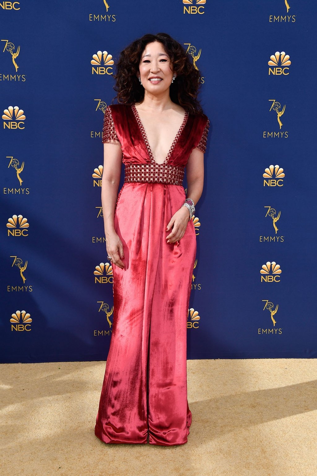 Sandra Oh in Ralph And Russo Couture, 70th Annual Primetime Emmy Awards, Betty White, Emmys 2018, Fashion, Featured, Glenn Weiss, Hannah Gadsby, highlights, Jav Svendsen, Online Exclusive, Style, The Marvellous Mrs. Maisel, top moments, We solved it, Diversity
