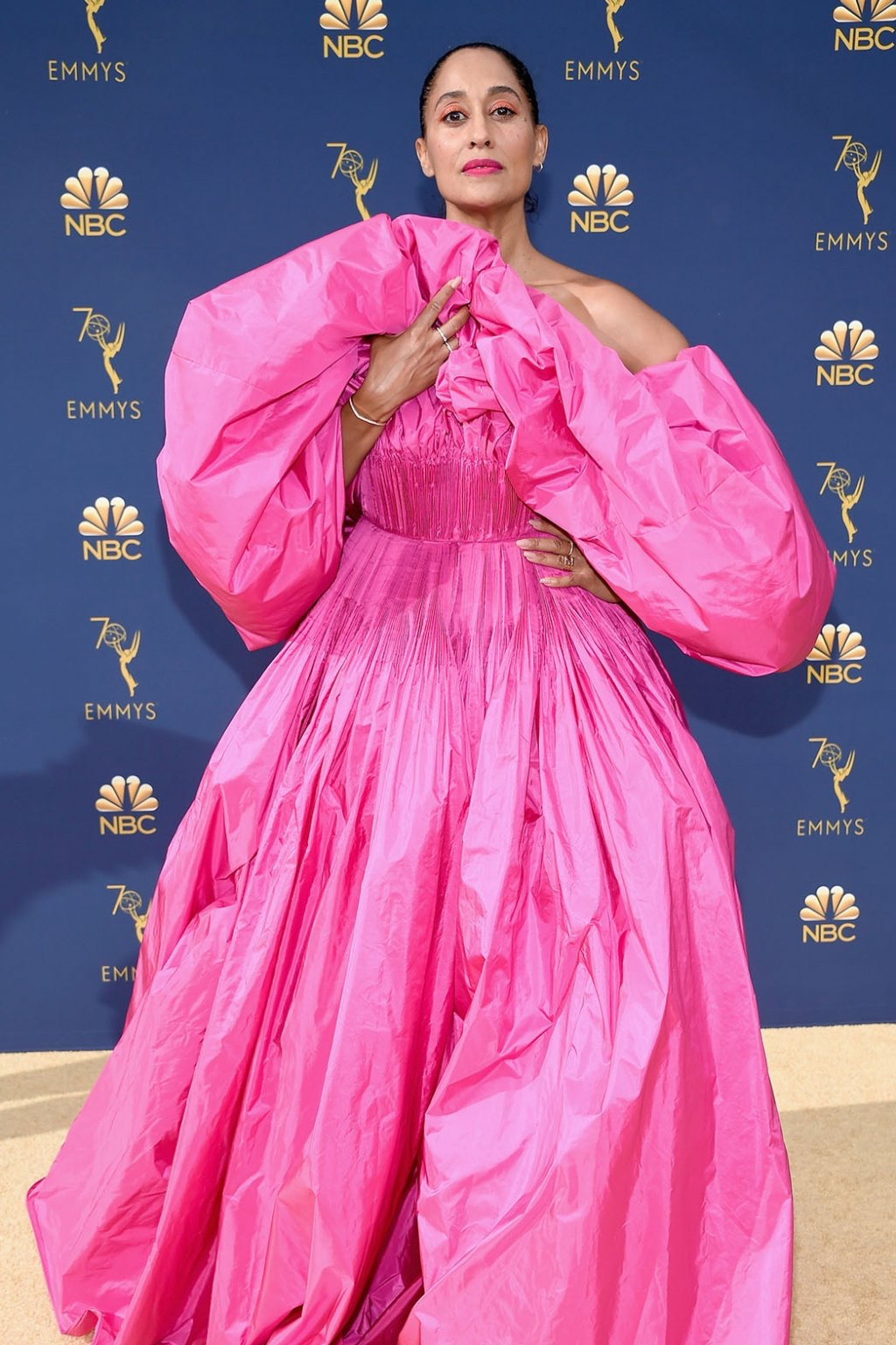 Tracee Ellis Ross in Valentino Haute Couture, 70th Annual Primetime Emmy Awards, Betty White, Emmys 2018, Fashion, Featured, Glenn Weiss, Hannah Gadsby, highlights, Jav Svendsen, Online Exclusive, Style, The Marvellous Mrs. Maisel, top moments, We solved it, Diversity