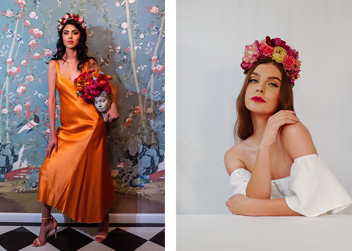East Darjeeling, Elissa Patel Waverly, Floral Headpieces, Silk Headpieces