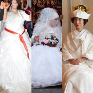 sposa turca, giordana e giapponese