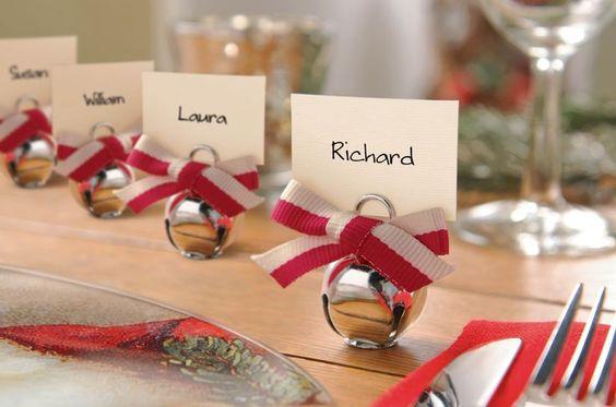 segnaposti natalizi come decorare la tavola di natale