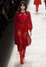 moda, fashion, rosso, sfilate, passerelle, fendi