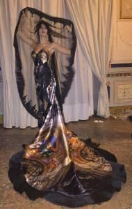 black carpet, sfilata, halloween, silvia spoto, sis dandify, impero couture, luigi auletta, giovanni cannistrà, eva carieri, abito palermo
