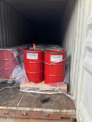PAGEL aanvoer in zeecontainers.