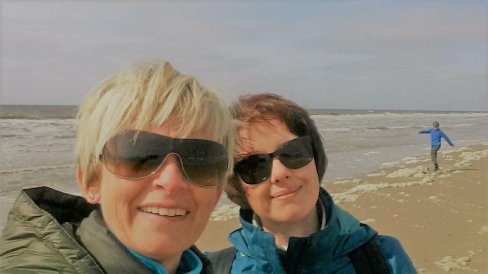 Selfie at the beach.