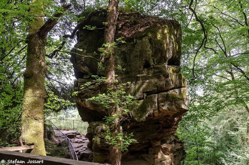 Met een beetje fantasie ontdek je dieren in de rotsformaties, of een gezicht zoals op deze foto.