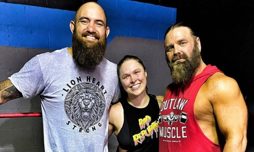 James Storm y Ronda ROusey