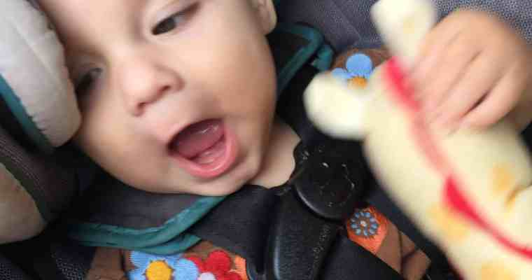 """<p style=""""text-align: center;""""><span style=""""color: #ff5e78;"""">Breastfeeding</span><span style=""""color: #ff5e78;""""> a Teething Baby</span></p>"""