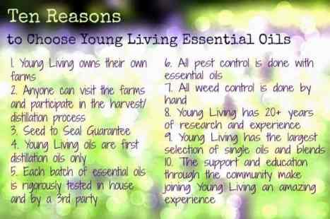 Here are ten reasons to choose Young Living Essential Oils