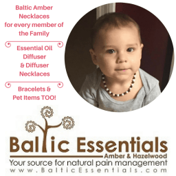 Baltic Essentials Amber and Hazelwood. Amber teething necklaces