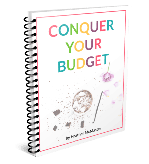 Conquer your Budget and Live your Dreams | by Heather McMaster of veryanxiousmommy.com