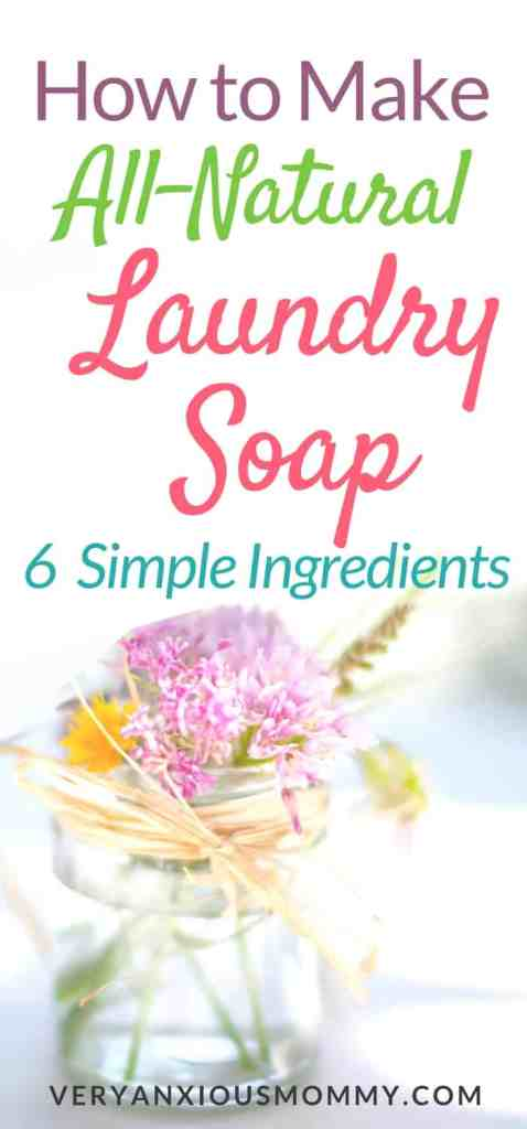 How to Make All-Natural Laundry Detergent | diy | make your own household cleaners | laundry soap diy | save money | frugal living | green living| living on a budget | save money groceries