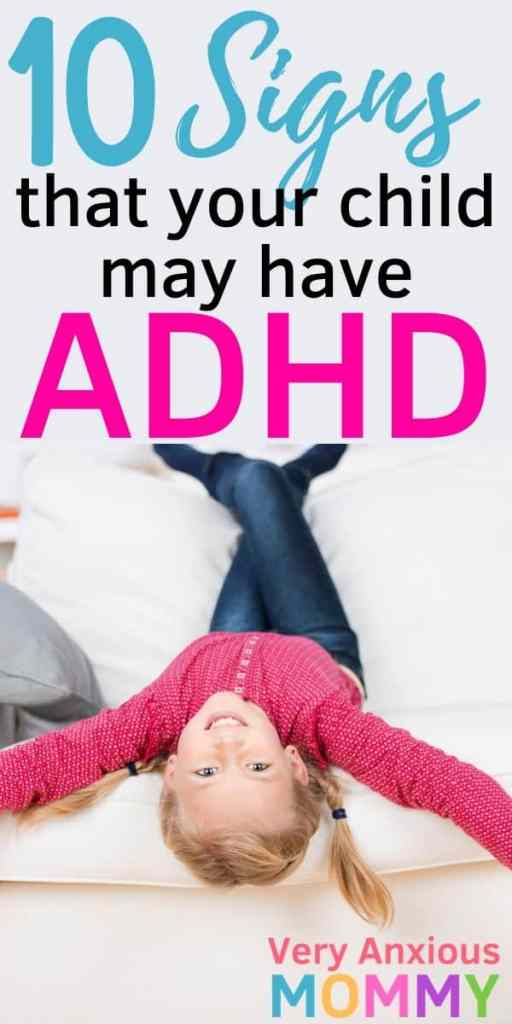 10 Signs that your Child may have ADHD