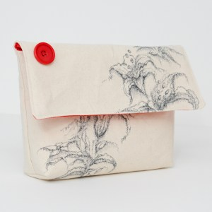 Canvas Pouch Ink Art