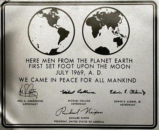 Luna placa Apolo 11