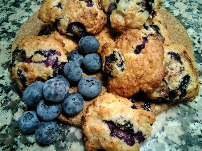 Galletas cookies con arándanos