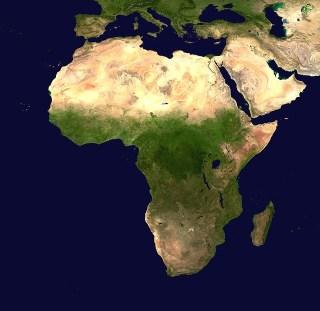 Continente africano visto desde el espacio