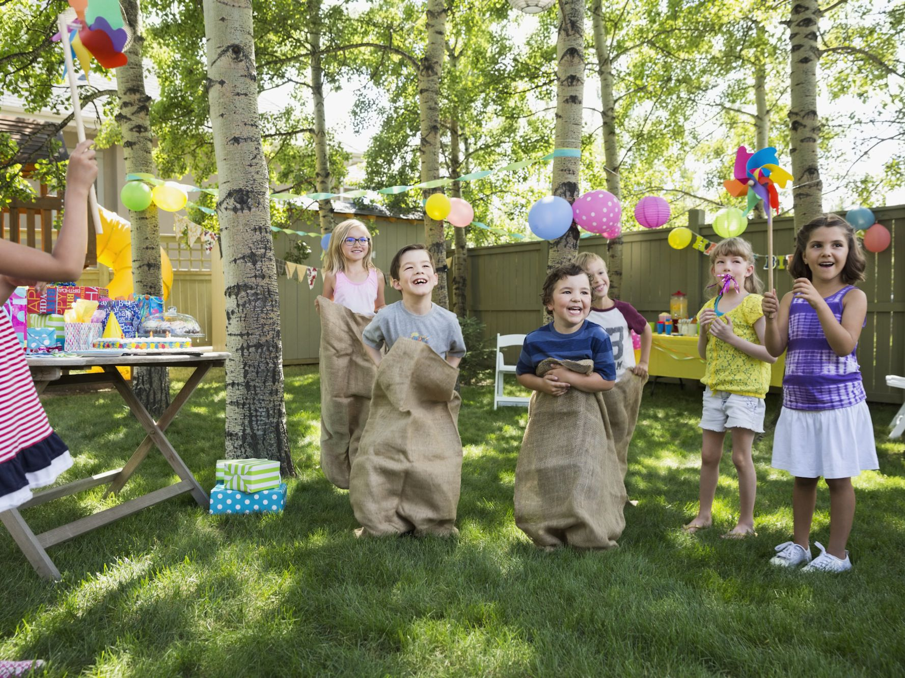Plan Outdoor Obstacle Games For A Kids Birthday Party