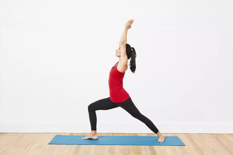 warrior one yoga pose