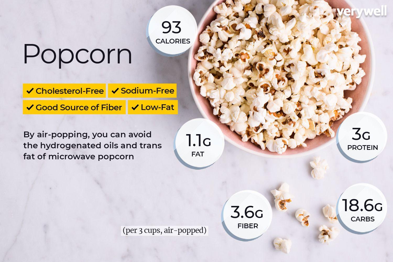 popcorn nutrition facts calories