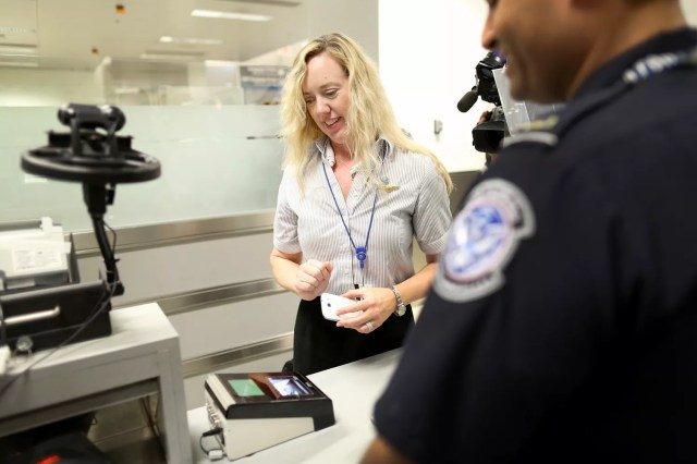 U.S Customs and Border Protection at an airport.