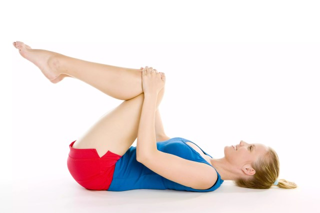 Knees to chest may help stretch your low back.