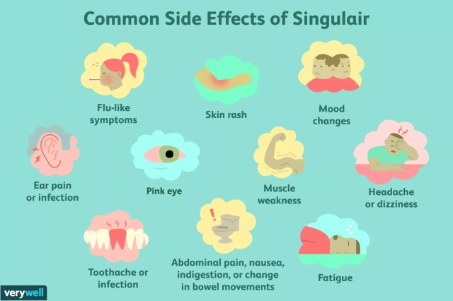 Common side effects of singulair