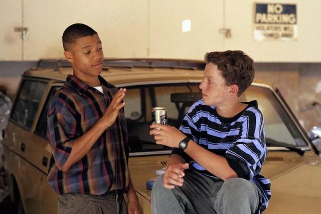 Models pose as teenage boys engaged in peer pressure