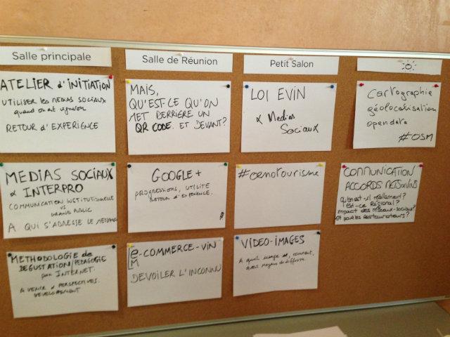 Thèmes ateliers - Vinocamp Rhône 2013
