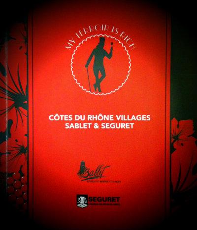 Soirée Sablet et Séguret - OFF  salon Découvertes en Vallée du Rhône 2013 - DVR2013