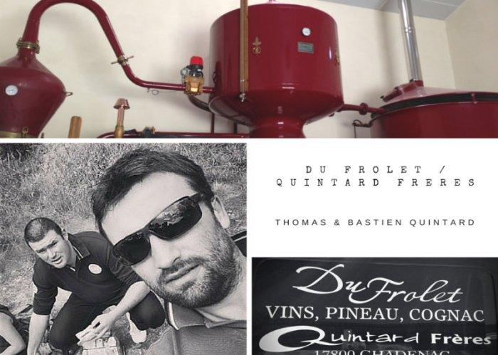 Montage photo - Thomas et Bastien Quintard - Du Frolet Quintard frères - Cognac