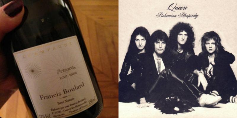 Accord vin musique - Cuvée Petraea XCVII MMVII – Francis Boulard - Bohemian Rhapsody – Queen