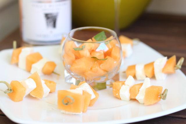 Brochettes-Melon-Chevre-Frais