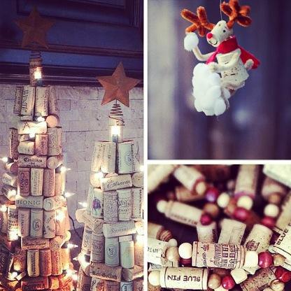 Idées décorations de Noël DIY avec des bouchons de liège